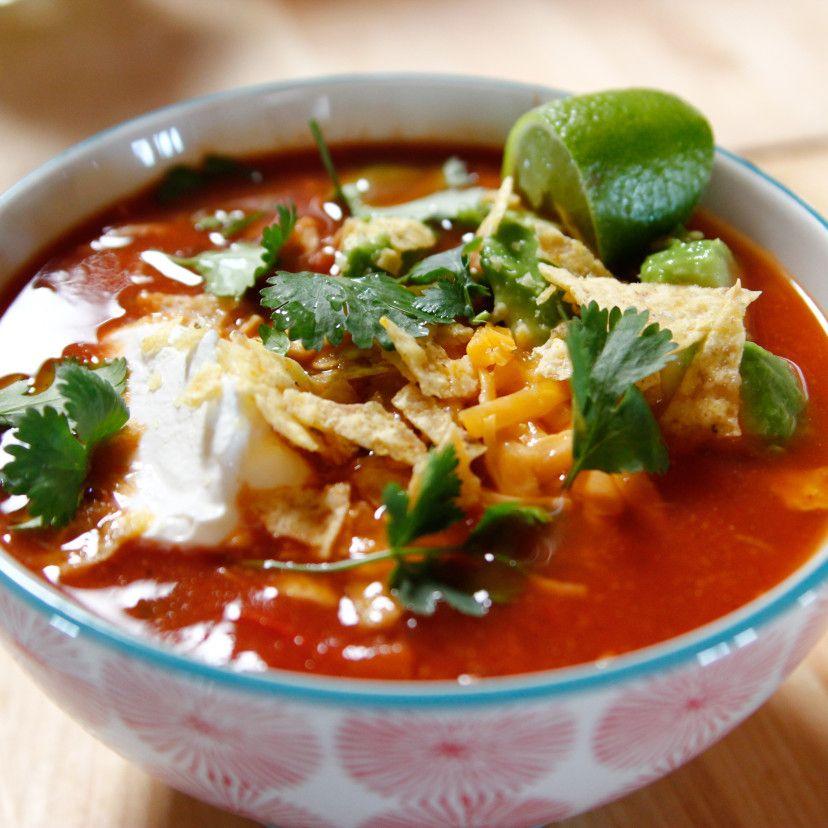 Soupe mexicaine au poulet à la mijoteuse
