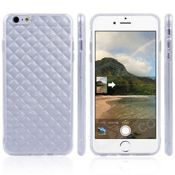 Diamond Pattern Back Case For IPHONE 6 PLUS 5.5 - Translucent White