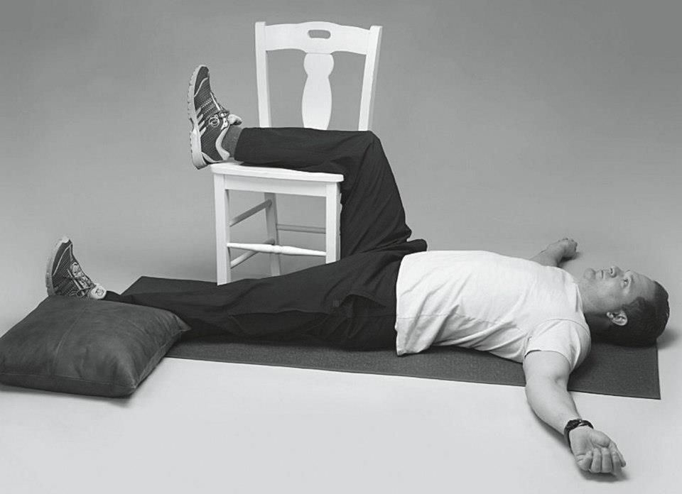 Neutral Back Psoas Hip Flexor Stretch Part I 1 Lie