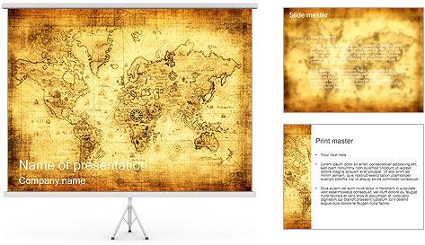 Antiguo mapa plantillas de presentaciones powerpoint template antiguo mapa plantillas de presentaciones powerpoint toneelgroepblik Gallery