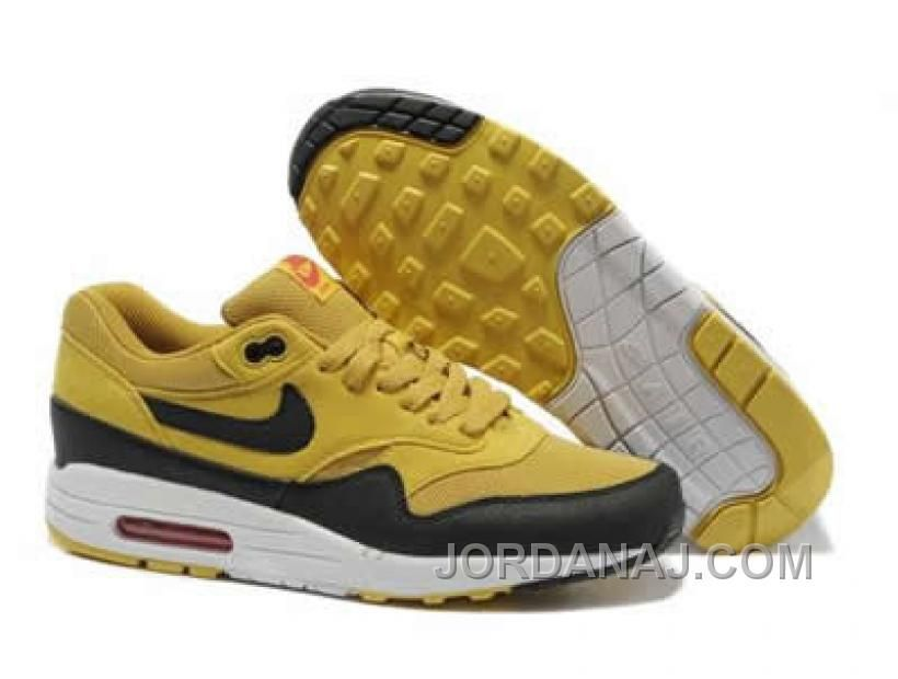 more photos 4a901 7b1dc Nike Air Max 1 Canyon Gold Sail University Red Black Mens 308866-701 Outlet  Red