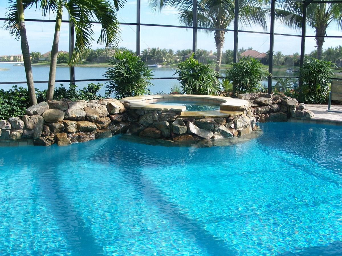 spa renovation 1 uni scape waterfalls natural stone work
