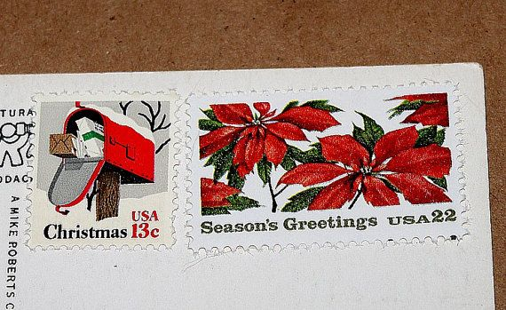Reserved Custom Order for joamly .. Unused Vintage US Postage stamps to mail 30 Christmas postcards sold on Etsy by TreasureFox, $22.50