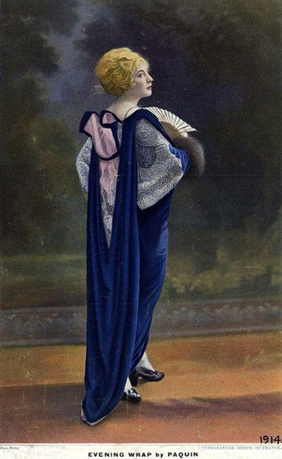 Jeanne Paquin, Evening Wrap, 1914