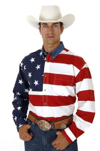 Roper Stars Stripes Pieced American Flag Patriotic Collection Long Sleeve Urban Western Wear Western Shirts American Flag Shirt Mens Western Wear