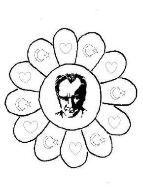 Ata Türk Tekerleme Atatürk Boyama Sayfaları 10 Kasım Boyama