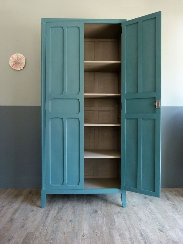 armoire bleu p trole home pinterest atelier. Black Bedroom Furniture Sets. Home Design Ideas
