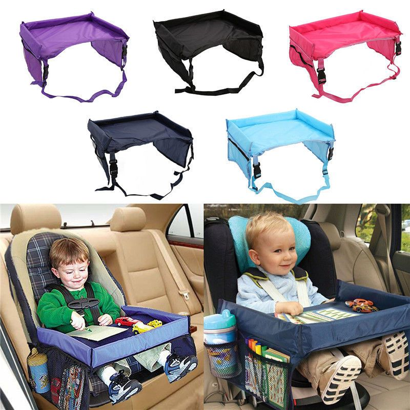 Upgrade Waterproof Baby Car Seat Tray Snack Table Kids Child Play Travel
