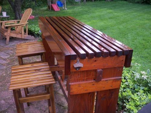Attractive Coole Garten Bar Aus Holz Selber Bauen