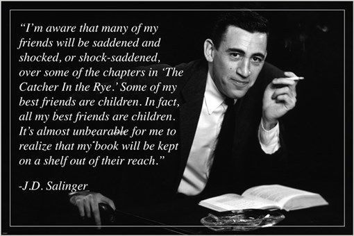 FAMED AUTHOR J.D. SALINGER quote poster INSPIRATIONAL