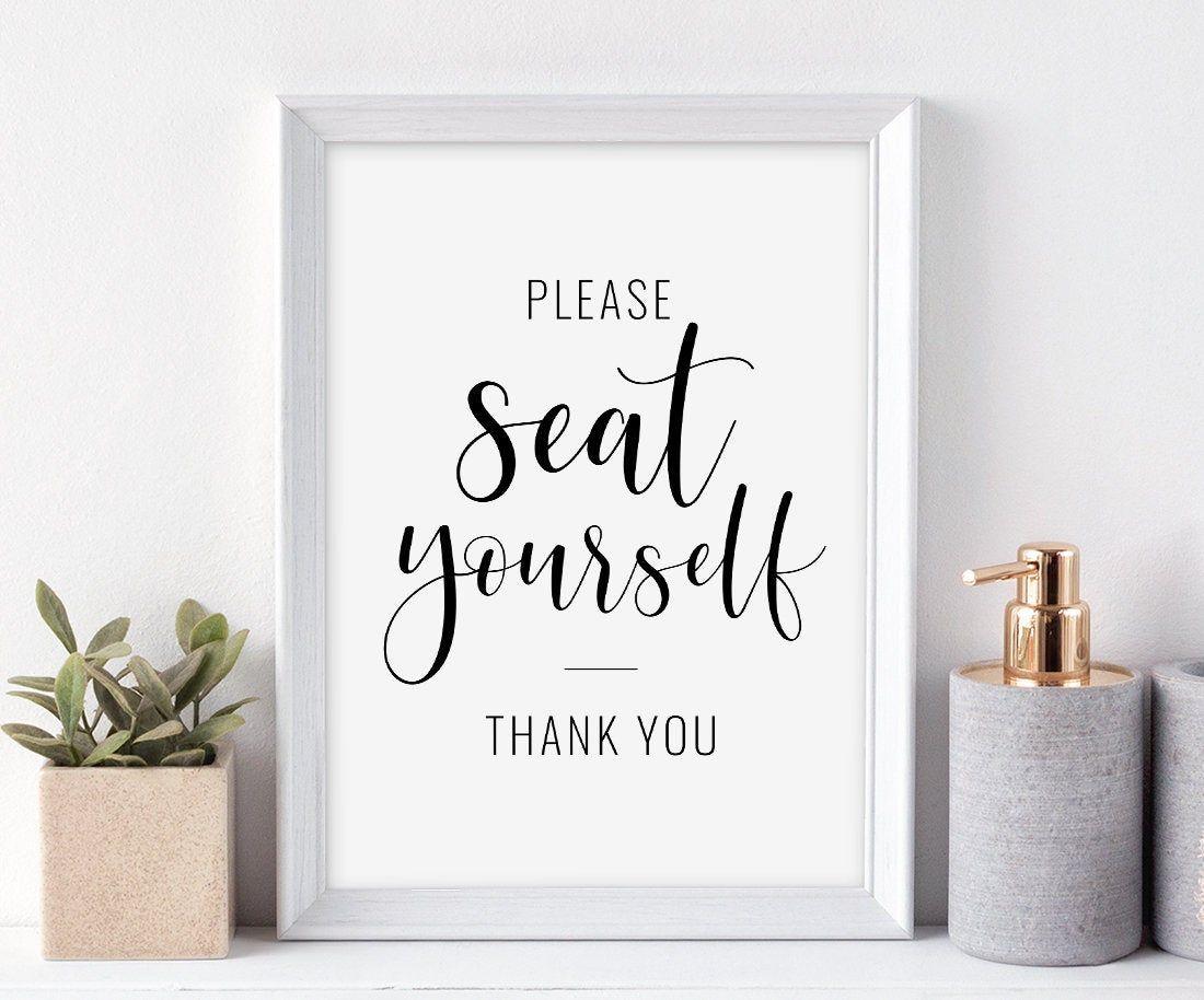 Please Seat Yourself Printable Art Funny Bathroom Sign Etsy Funny Bathroom Signs Funny Toilet Signs Bathroom Wall Art