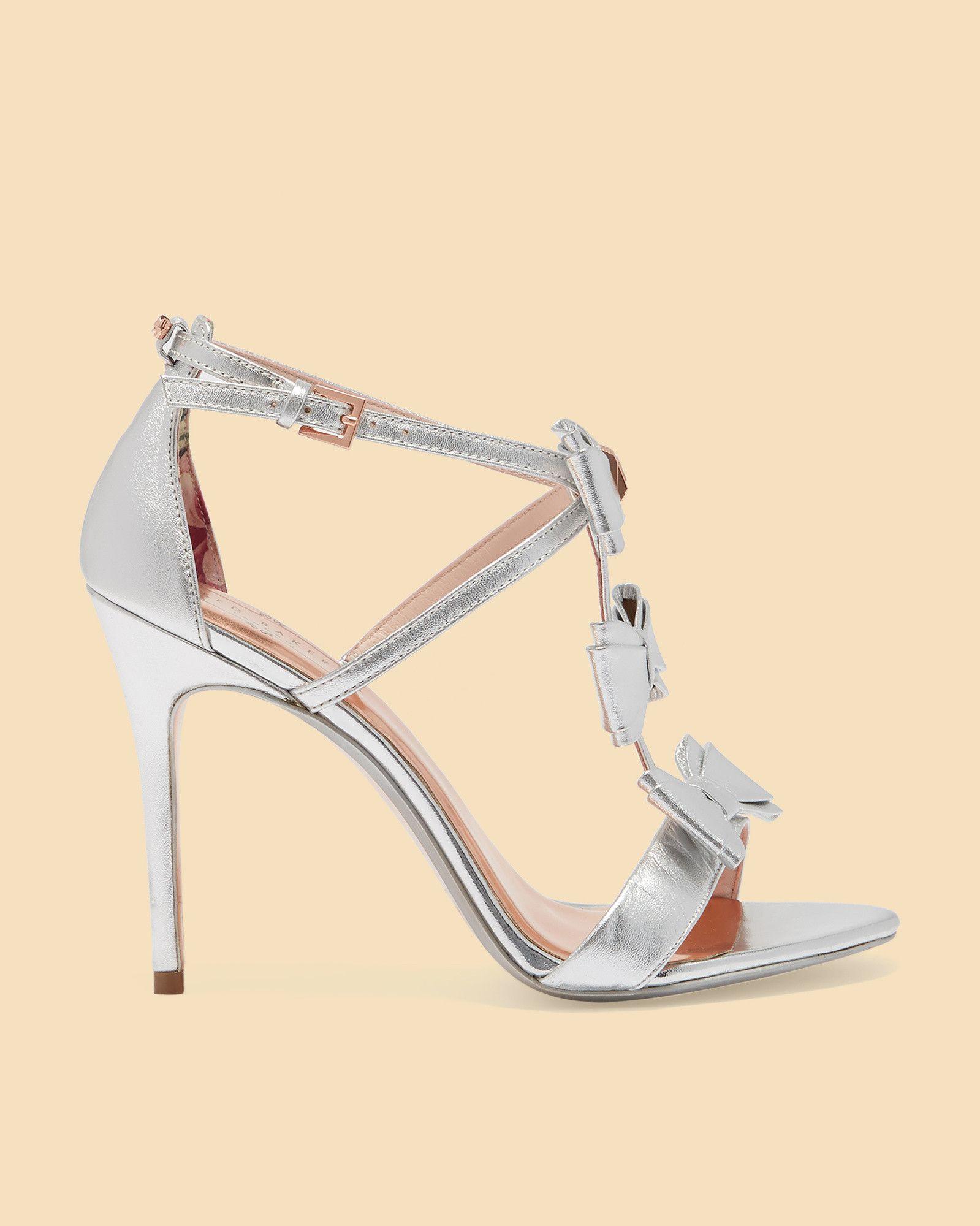 9d5decd34 Ted Baker Triple bow detail heeled sandals Black