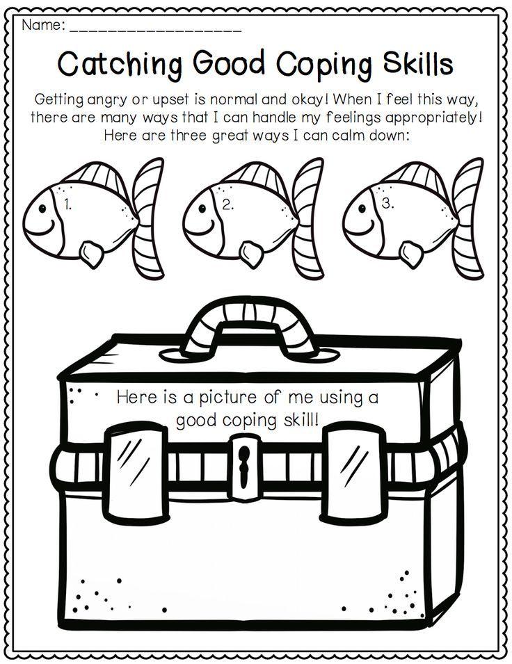 Coping Skills Activities Fishing Themed Coping Skills