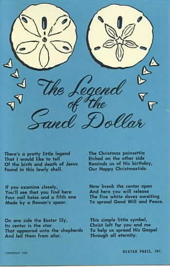 picture about Legend of the Sand Dollar Poem Printable named The Legend of the Sand Greenback Poem Postcard SAND Funds