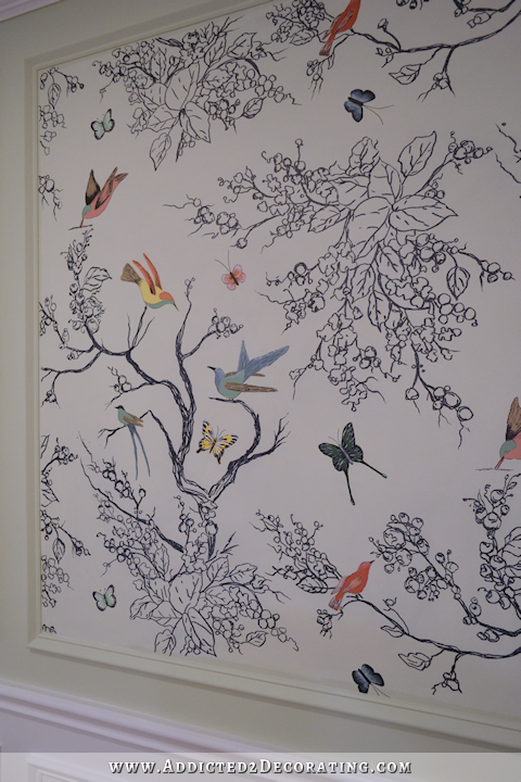 Hand Drawn Birds & Butterflies Entryway Wall Mural