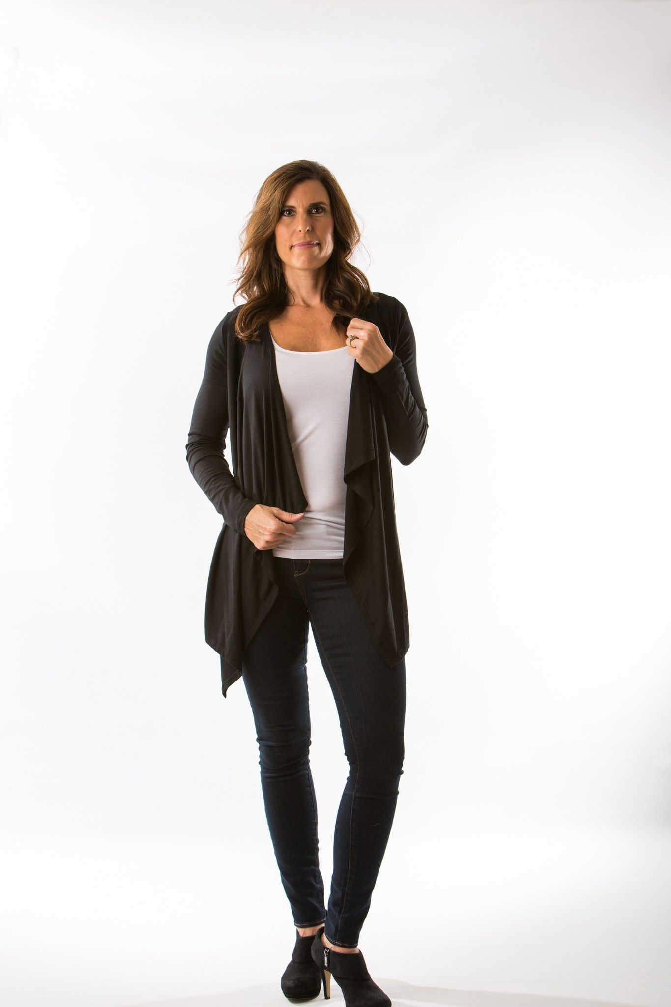 Pearl Cardigan (Black) by Amour Vert