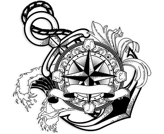 arm tattoos anchor compass google search tattoo 39 s. Black Bedroom Furniture Sets. Home Design Ideas