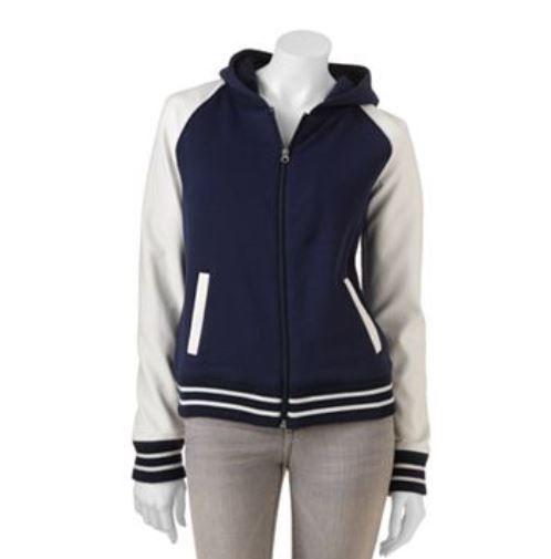 NWT Juniors SO® Varsity Faux-Leather Jacket - Medium (5/7) in Baltimore Blue #So #VarsityJacket
