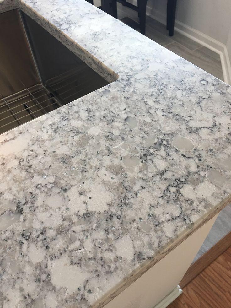 Beautiful everest quartz by lg viatera bathroom ideas for What is the best quartz countertop