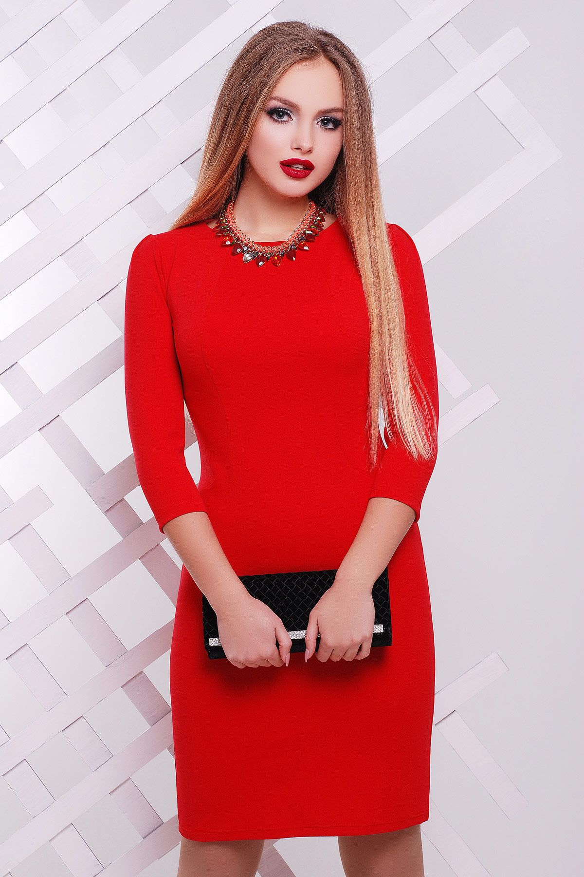 0042b79beda Облегающее платье выше колен на весну-лето красного цвета Модеста д р. Цвет   красный