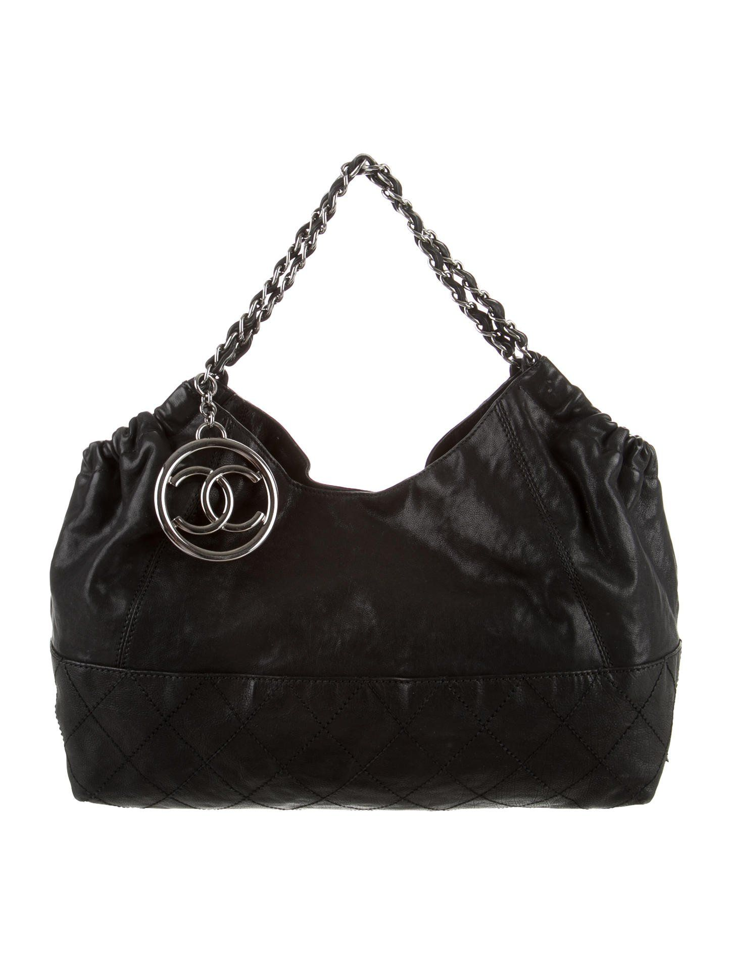 85f85e77426387 Chanel Black Coco Cabas Tote- Distressed Caviar Leather | Color is for  clowns.