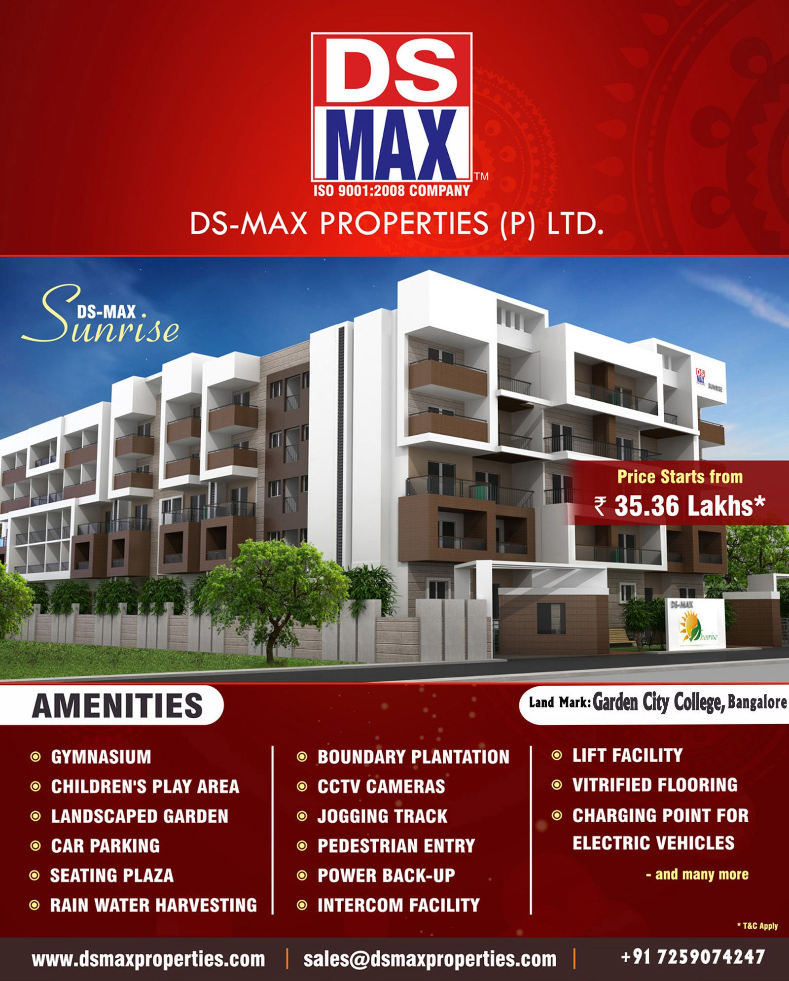 Ds Max Sunrise Premium 2 3 Bhk Apartment With Best In Class Amenities In Kithaganur Near Ga Garden City City College Apartments For Sale
