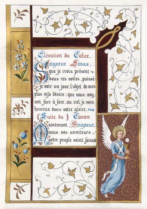 Lot:Book of Hours Miniatures Illuminated Manuscript Vellum, Lot Number:61…