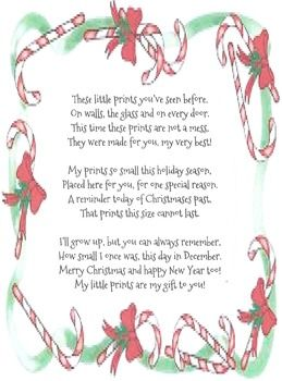 Poems About Christmas Time.Christmas Handprint Poem Christmas Handprint Poem
