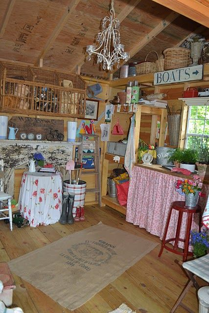 Interior Shed Decorating Ideas: Shed Turned Craft Room. This Is What I Want. Simple But So