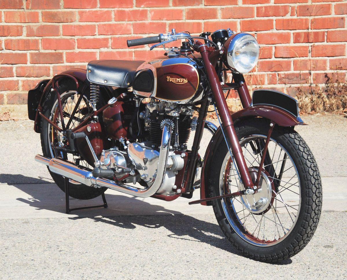 1948 Triumph 5t Speed Twin Vintage Motorcycle For Sale Via Rockerco