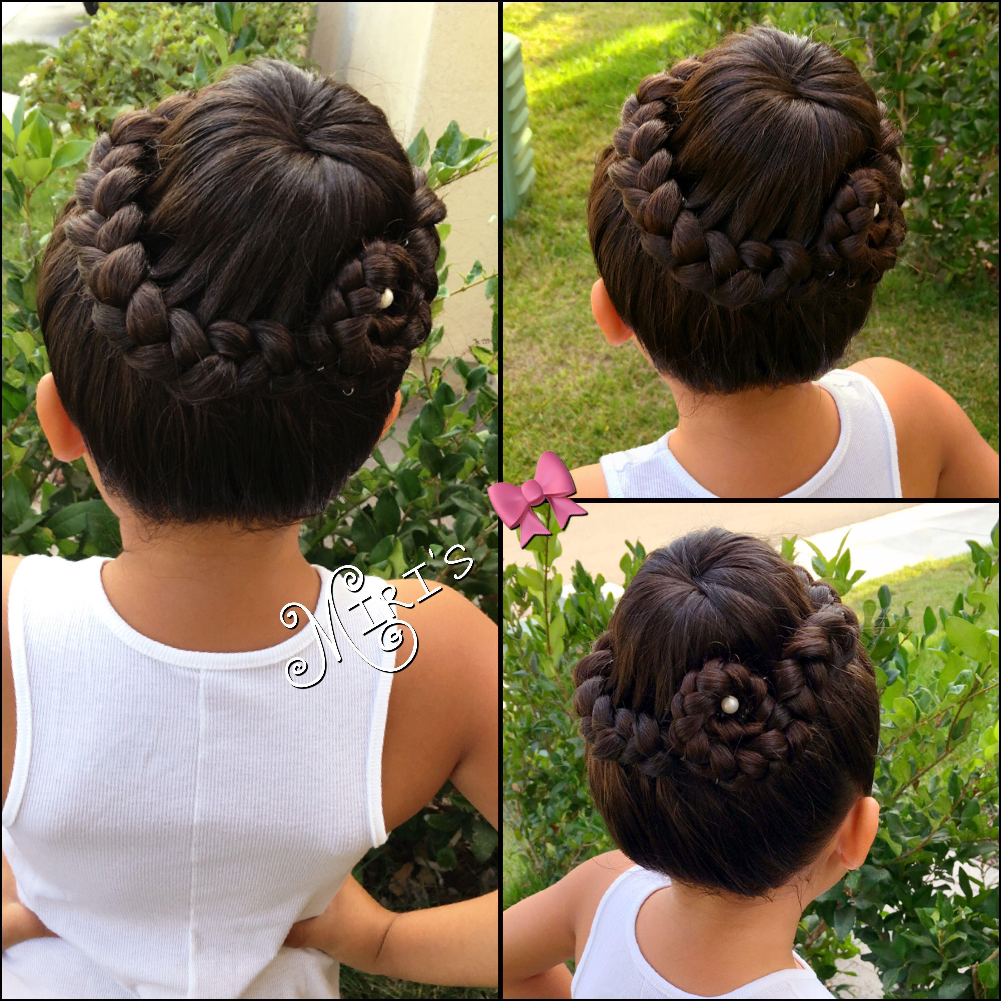 Bun hair style for little girls   Kids hairstyles, Hair ...