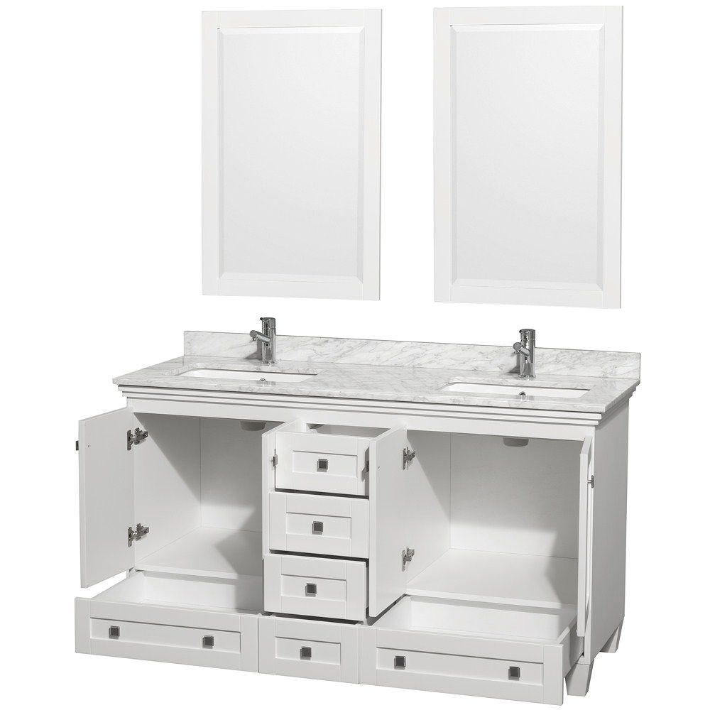 Acclaim 60 In. Double Bathroom Vanity By Wyndham Collection   White