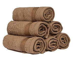 Set di 6 lavette in cotone americano Miami sabbia - 33x33 cm