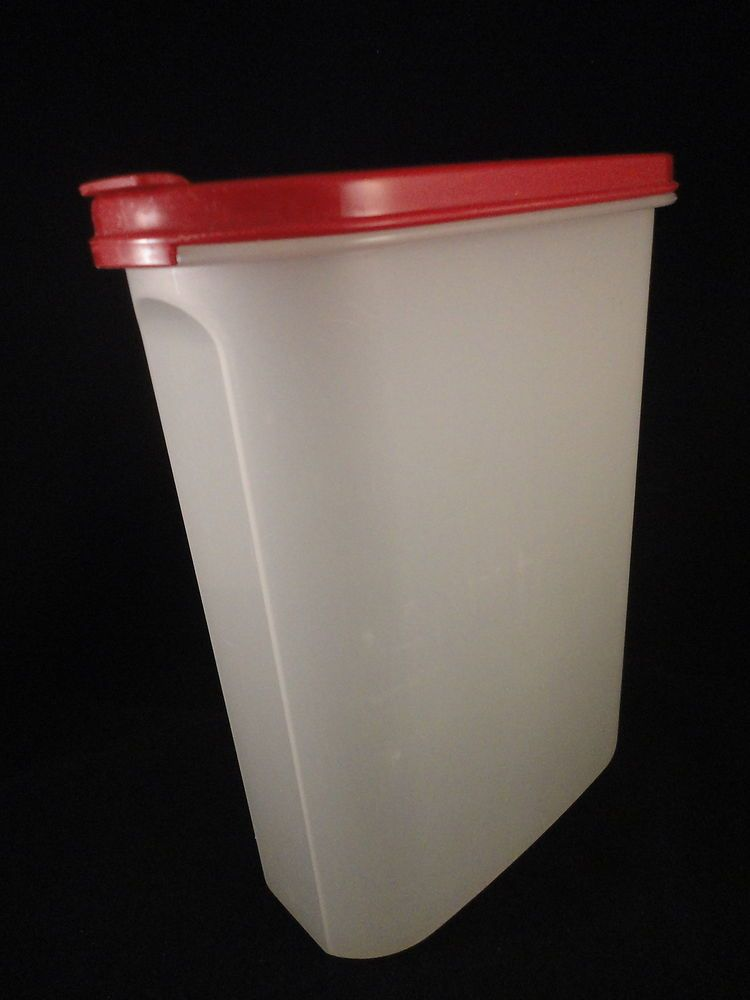 Tupperware Cereal Storage Container Red Flip Top lid 23 Litre on