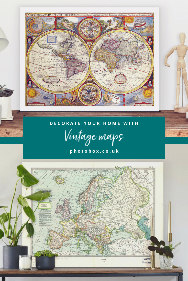 How to print old maps to personalise your home Map wall