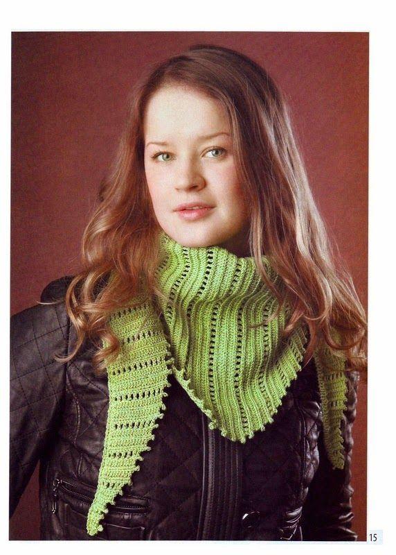Patron de punto ganchillo para confeccionar pashmina | Crochet ...