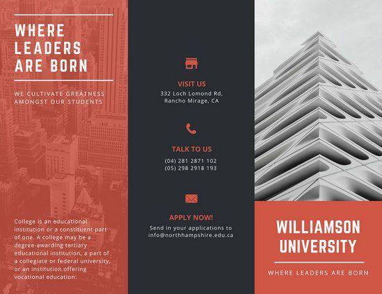 Red and Black Modern School Tri-fold Brochure - Templates by Canva - tri fold brochure