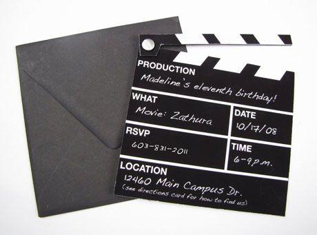 Oscar Party Invitation Ideas Celebrate Good TimesCome On - movie themed invitation template