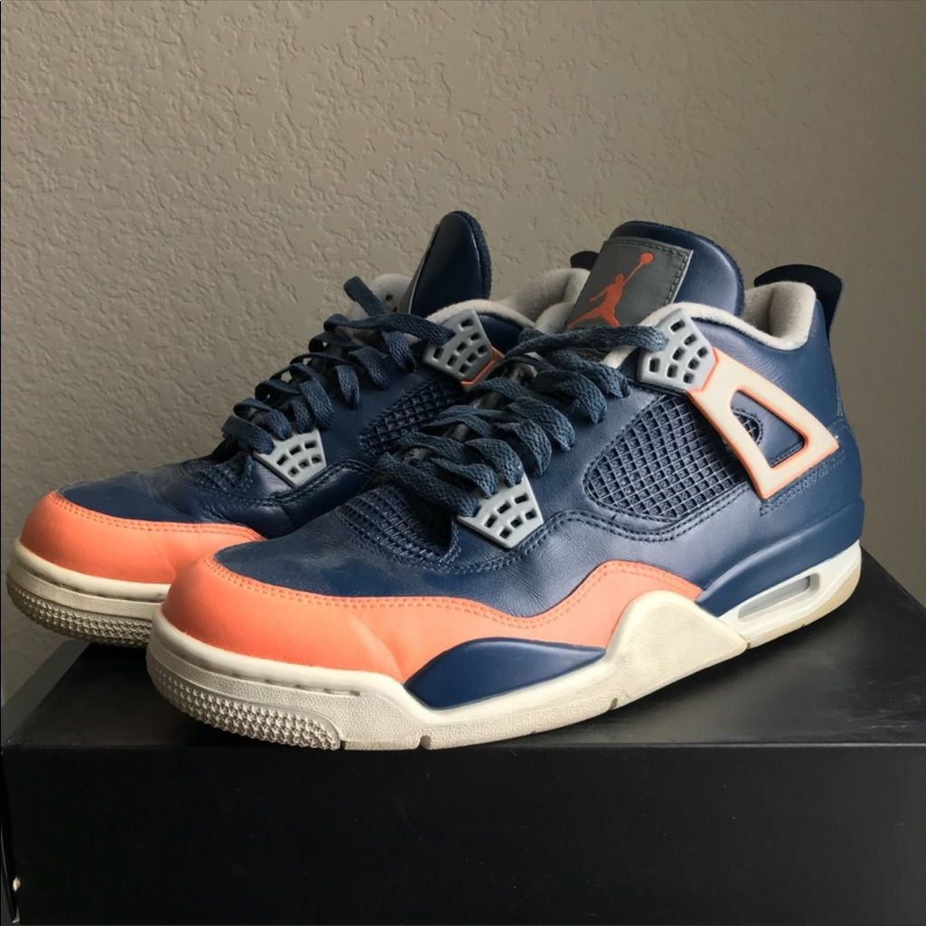 Nike Air Jordan Retro 4 Custom Salmon Toe Sneakers Air Jordans