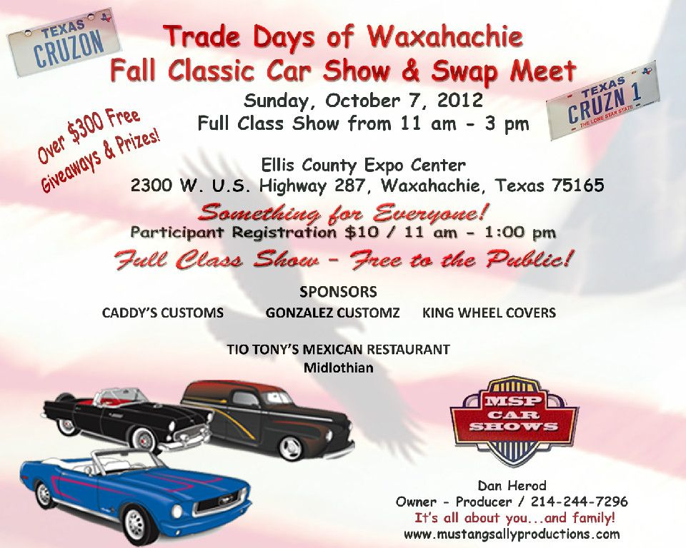 Trade Days of Waxahachie Fall Classic Car Show and Swap Meet | Car ...
