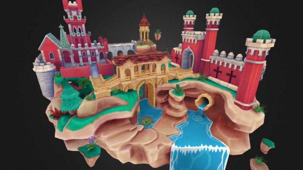 Sintra Floating Castle by mattwells3d