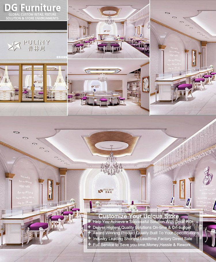 New-coming Jewellery Shop Floor Plan Furniture Interior