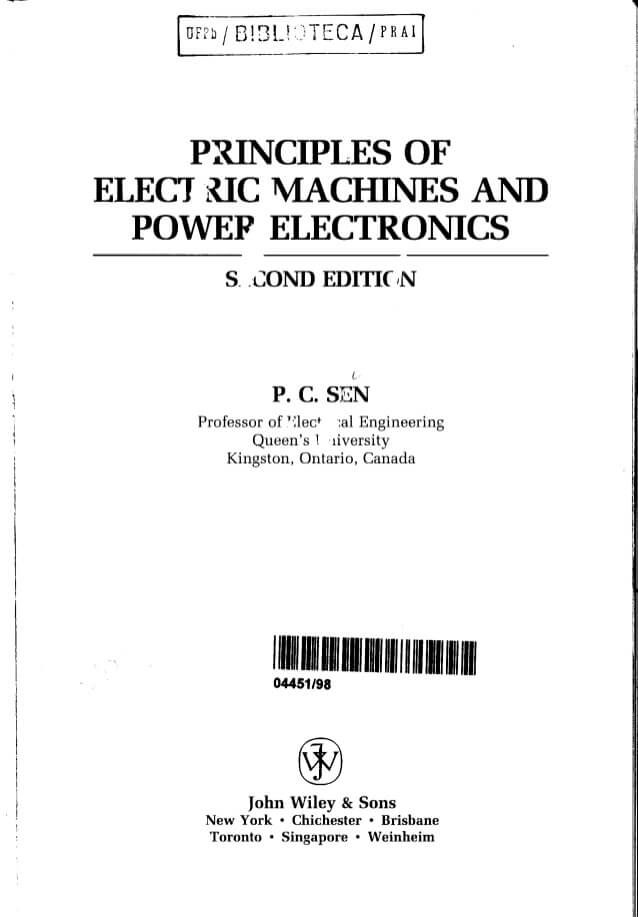 Downlad Principles of Electrical Machines and Power Electronics 2nd