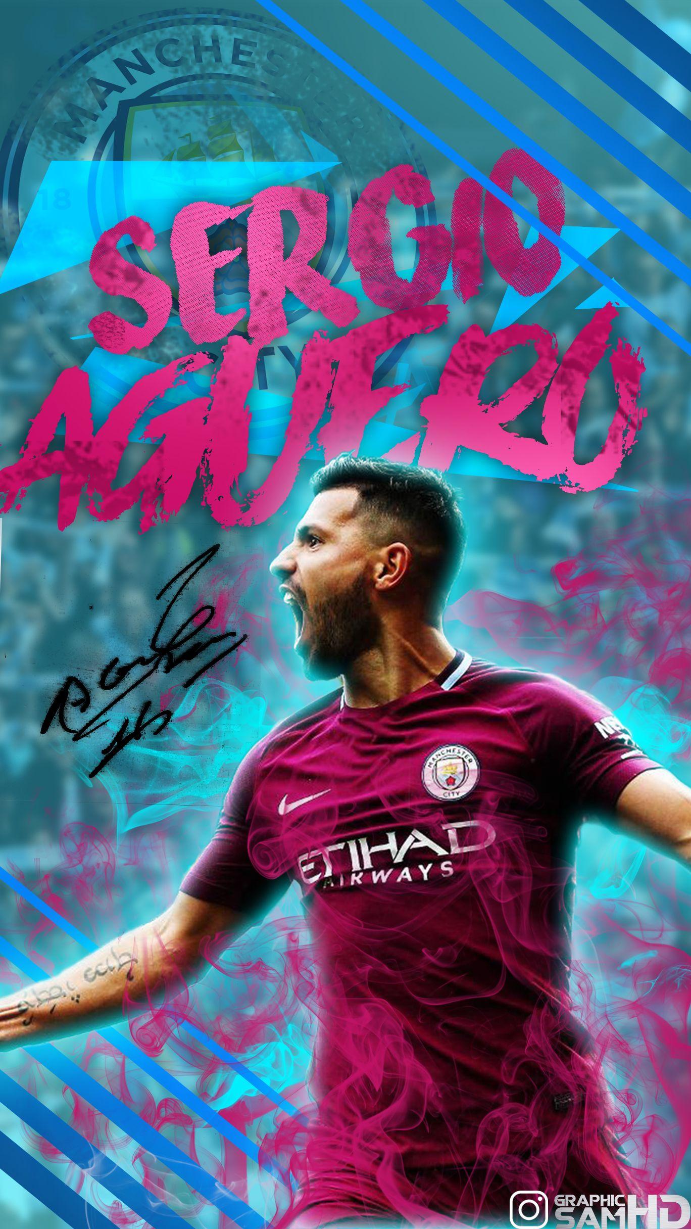 Sergio Agüero Phone Wallpaper 20172018 Wandi Manchester City