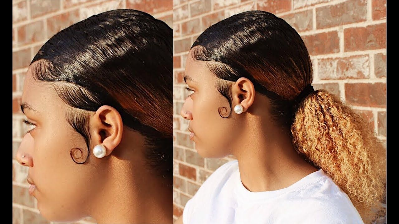 Low Sleek Ponytail And Slayed Edges Using Kaekoes Products Kaekoes Com Youtube Sleek Ponytail Slick Hairstyles Sleek Hairstyles