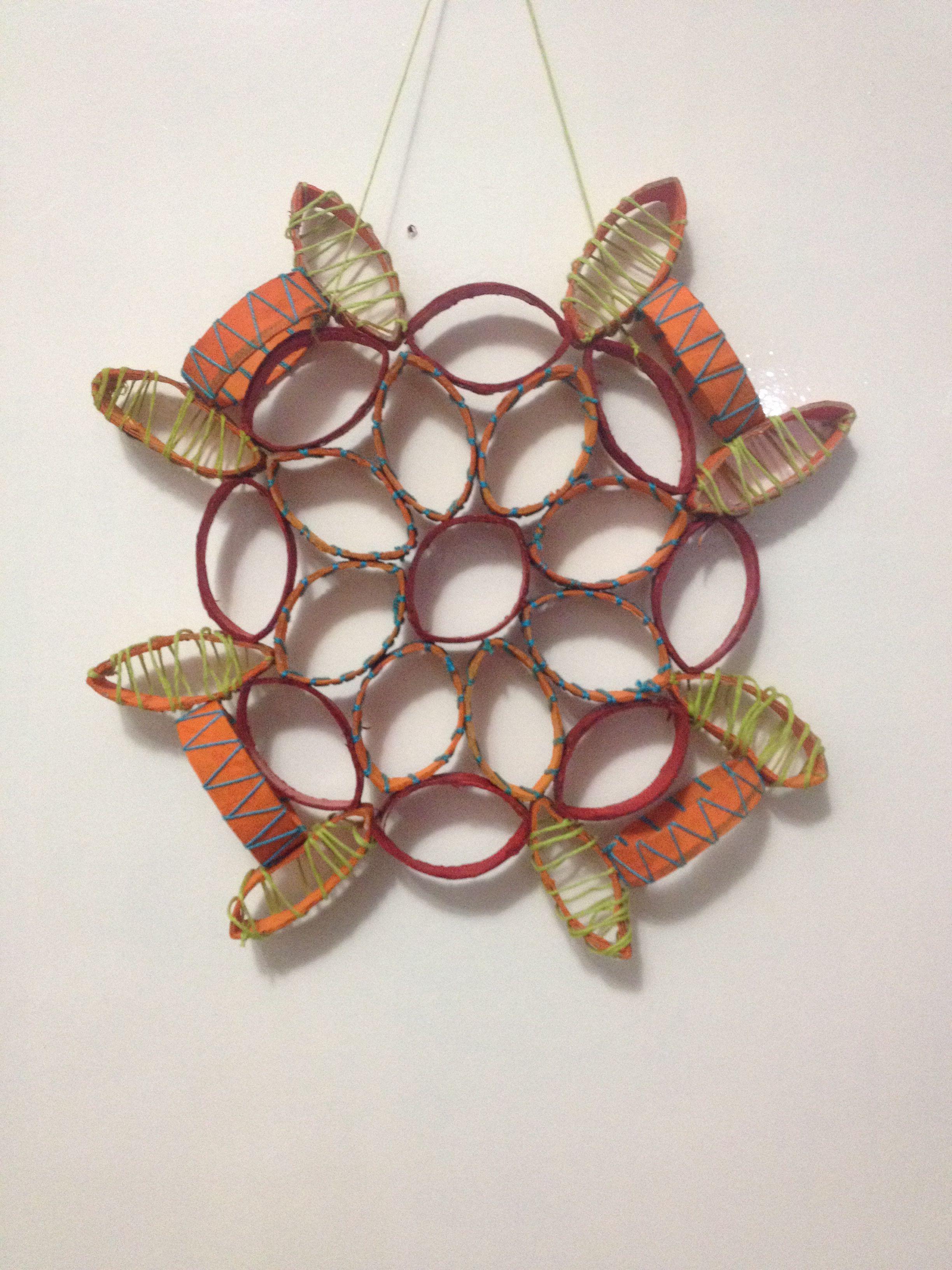 DIY Paper towel rolls ornament (With images) Paper towel