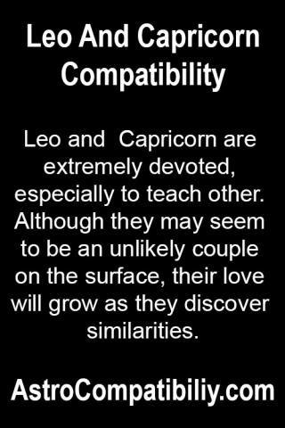 Capricorn and Leo Compatibility