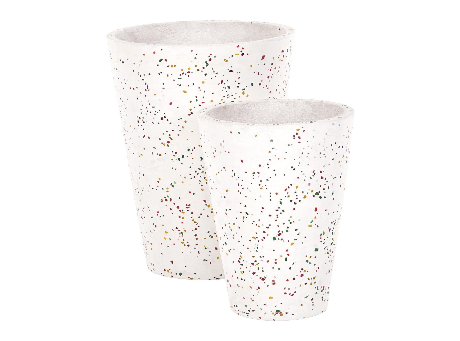 ce6eb25a111f Savannah Set of 2 Conical Shaped Terrazzo Planters
