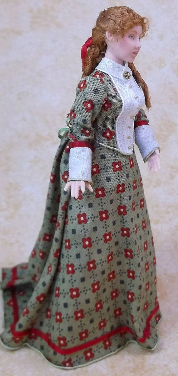 Miniature Dollhouse Doll 1:12 Scale Victorian by LillisLittles