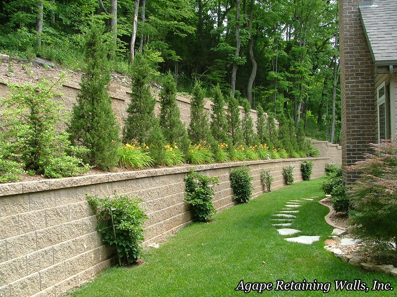 agape retaining walls inc terrace photo album 2 retaining walls